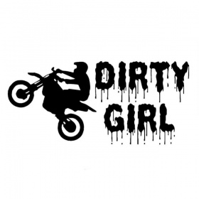 "Наклейка на автомобиль ""Dirty Girl"""